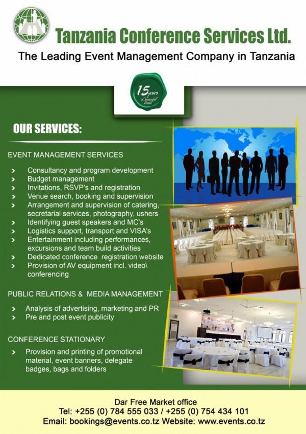 Tanzania Conference Services Ltd  (Dar Es Salaam, Tanzania) - Phone